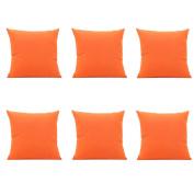 Aipark 6Pcs 46cm x 46cm SoSquare ft Pure Pillow Covers Car Cushion Covers Decorative Sofas Beds Chairs