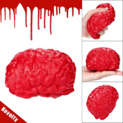 HKFV Amazing Frightening Design Creative Frightened Brain Pattern Stress Relief Slow Rising Toys Magical Funny Novelty Silicone Stress Ball Scary Organ Brain Squeeze Toy Stress Reliever Toy