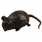 Pu Ran Kids Adult Creative Cute Simulation Mouse Squeeze Stress Reliever Vent Toy - Black