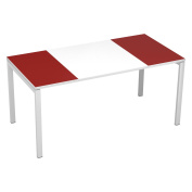 Paperflow easyDesk Training Table, 160cm Long, White Middle with Marron Ends
