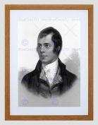 PORTRAIT OF ROBERT BURNS AYR SCOTLAND OLD BW BLACK FRAMED ART PRINT B12X644