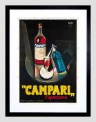 CAMPARI APERITIF 1926 HOME DECO BLACK FRAMED ART PRINT PICTURE B12X6953