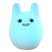Umiwe Rechargeable Silicone Rabbit Night Light for Kids Baby Children Toddler Infant Tap Control Multicolor Nursery Cute Lamp