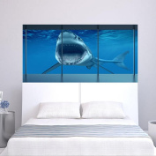 YINGER Bedside Wall Sticker PVC Ocean Animal 3D Home Decoration Creative Wallpaper Removable 90*180CM
