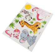 Yosemite Lovely Cartoon Animal Elephant Giraffe Wall Sticker Kids Room DIY Home Decor