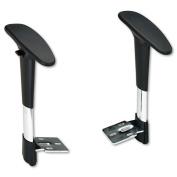 Safco 3495BL Black Adjustable Height Arm Set for Metro