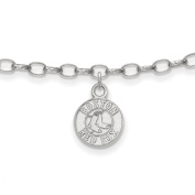 Roy Rose Jewellery Sterling Silver MLB LogoArt Boston Red Sox Anklet