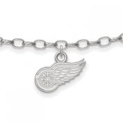 Roy Rose Jewellery Sterling Silver NHL LogoArt Detroit Red Wings Anklet