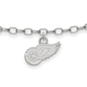 Detroit Red Wings Anklet in Sterling Silver 3.08 gr