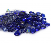 GLASS PEBBLES FOR AQUARIUM AND DECORATIVE PURPOSE BLUE colour- 500gm