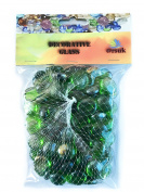 GLASS PEBBLES FOR AQUARIUM AND DECORATIVE PURPOSE GREEN colour- 500 gm