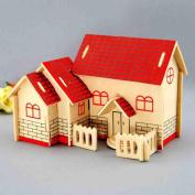 Box of M ¨² sica Handmade Villa Gift Wooden Cumplea. Os red villa