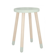 """FLEXA Side Table with Legs Made of Oak """" Play """" in Green/Mint Green"""