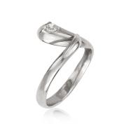 14k White Gold Cubic Zirconia Top Adjustable Snake Shape Body Jewellery Toe Ring