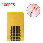 100pcs Square Nails Form Sticker Nail Paper Holder for UV Gel Nail Manicure