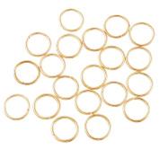 Souarts 40 Pieces Gold Colour Braid Rings Hair Hoops Braid Hair Clip Accessories 12mm