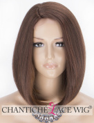 Chantiche Short Bob Synthetic Lace Front Wigs for Women Natural Looking Straight Hair Bown Lace Wig Side Part Heat Resistant 36cm
