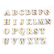 26Pcs A-Z Wooden Letters Alphabet Scrabble Letters For Kids Learning Playing Crafts Embellishment Wedding Party Baby Room Decoration Photo Props Educational Toys