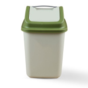 Plastic shake-cover trash can, indoor waste recycling trash, living room, kitchen