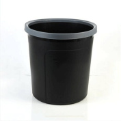 GAOLILI Round Plastic Trash Can Cleaning Bucket Black