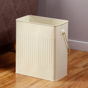 GAOLILI Rectangular Trash Cans Household Large Capacity Storage Barrels Narrow Body Trim Iron Drums Dustbins