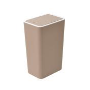 Creative colour plastic trash can, button-type square garbage collection box