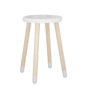 """FLEXA Side Table with Legs Made of Oak """" Play """" in White"""