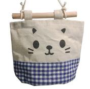 WeiMay Linen Cotton Fabric Wall Door Hanging Organiser Storage Bag Basket Pouch for Wall Door Closet Organiser Wardrobe