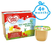 Cow & Gate Pears Banana And Baby Rice 4X100g 4 Mth+