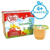 Cow & Gate Fruit Cocktail Fruit Pot 4X100g 4 Mth+
