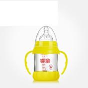 PRDXFeeding bottle Anti-flatulence Feeding Bottle Wide Mouth Feeding Bottle with Food Grade Silicon Nipple for New born or baby,BPA free
