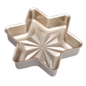 DIKEWANG Snowflake Cake Bun Pan Bread Mould Bakeware Non-stick Easy Clean Kitchen Cake Mould