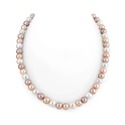 Radiance Pearl 14K Gold 'AAA' Quality Multicolor Freshwater Pearl Necklace