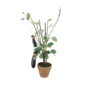 80cm Decorative Artificial Purple and Green Egg Plant in Terra Cotta Pot