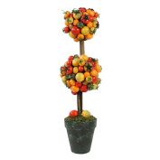 50cm Decorative Potted Artificial Double Ball Tomato Topiary Tree