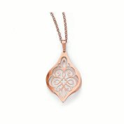 Leslies Sterling Silver Rose Gold Plated Polished Necklace