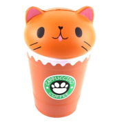Stress Relief Toys for Kids Adults Slow Rising Squishies Jumbo Mingfa Cute Soft Coffee Cup Cat Squeeze Toy Cure Gift