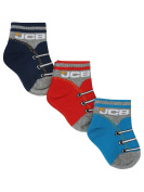 Jcb Baby Boy Cotton Rich Stretch Shoe Lace Effect Socks Three Pack
