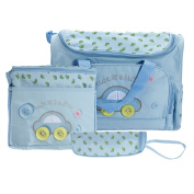 Caveen Nappy Bag Nursery Bag Large Mummy Handbag Lovely Baby Nappy Nappy Bag Changing Set with Nappy Mat Sky Blue