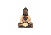 Thai Buddha Statue 20 Cm Off-White
