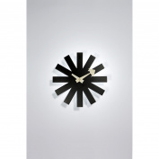 Aeon Furniture 25cm . Zip Modern Clock - Black