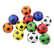 ODN Table Soccer Foosballs Replacements Mini Colourful Soccer Balls - 12pcs