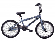 Ammaco Extreme 50cm Wheel BMX Freestyler Bike Matte Grey & Stunt Pegs 360 Gyro