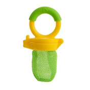 Baby Fresh Food Mesh Feeder Deluxe Gets Nutrition with No Risk Munchkin Yellow