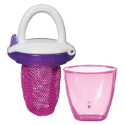 Baby Fresh Food Mesh Feeder Deluxe Gets Nutrition with No Risk Munchkin Pink Deluxe