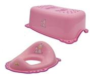 Maltex Baby Toilet Training Seat and Step Stool Set, Pink, Zebra