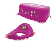 Maltex Baby Toilet Training Seat and Step Stool Set, Pink, Little Bear and Friends