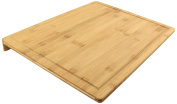 Totally Addict kd3238 Bamboo Chopping Board With Edge, Brown, 45 x 34 x 3.5 cm