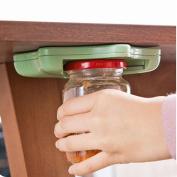 Jar Opener, H.eternal Under Kitchen Cabinet Counter Top Lid Remover Bottle Jar Can Opener Kitchen Gadget - Designed For Weak Hands, Seniors, Arthritis - Ideal Gift For Women or Elderly