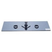 Curt Manufacturing Cur65500 Flat Hitch Plate 33cm x 120cm with 6.4cm Welded D-Rings